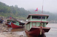 Picture of River boats in Laos on the Mekong river - Laos