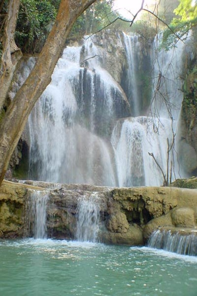 Send picture of Kuang Si Falls from Laos as a free postcard