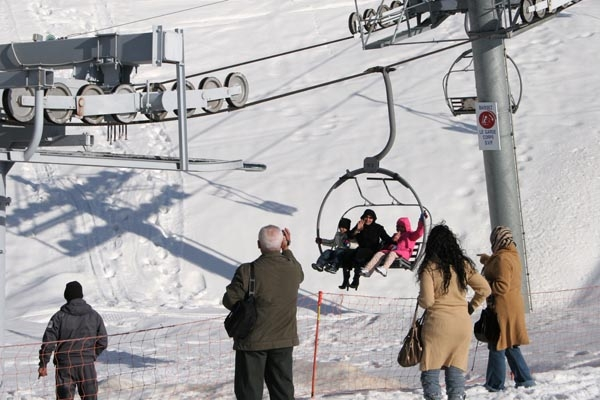 Send picture of People at Faraya Mzaar ski area from Lebanon as a free postcard