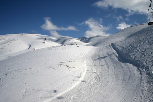 Slopes at the beautiful Faraya Mzaar ski area