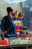 Picture of Coffee and candy stall at the market of Vilnius - Lithuania