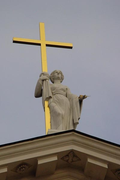 Cross on top of Vilnius Cathedral