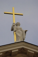 Picture of Cross on top of Vilnius Cathedral - Lithuania