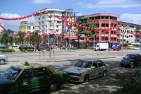 Picture of Street, car and houses in Kota Kinabalu - Malaysia