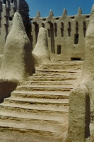Photo de Stairs of mosque in Djenné - Mali
