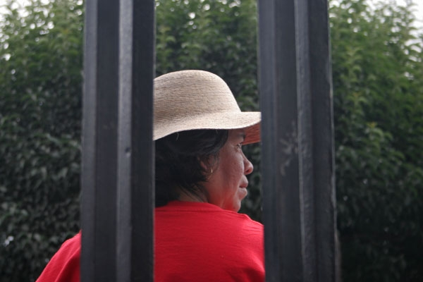 Mexican woman with hat