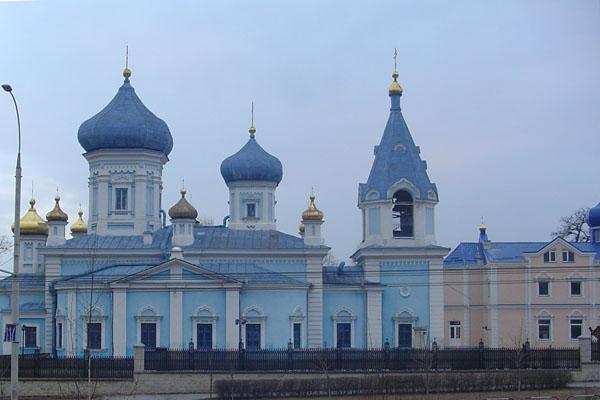 Spedire foto di Blue Church in Chisinau di Moldavia come cartolina postale elettronica