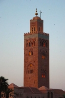 Picture of Marrakech minaret in the evening sun - Morocco