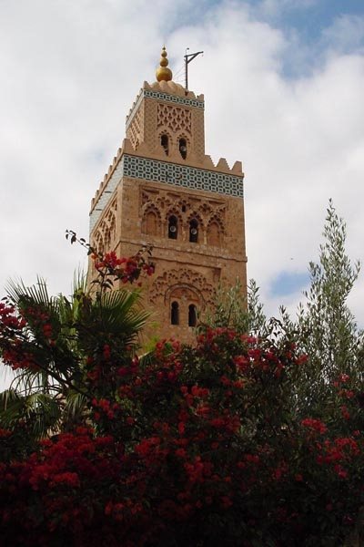 Send picture of Minaret in Marrakech from Morocco as a free postcard
