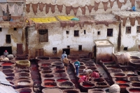 Photo de Men working in the tanneries - Morocco