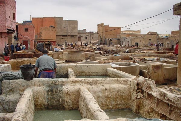 Send picture of The Fés tanneries from Morocco as a free postcard