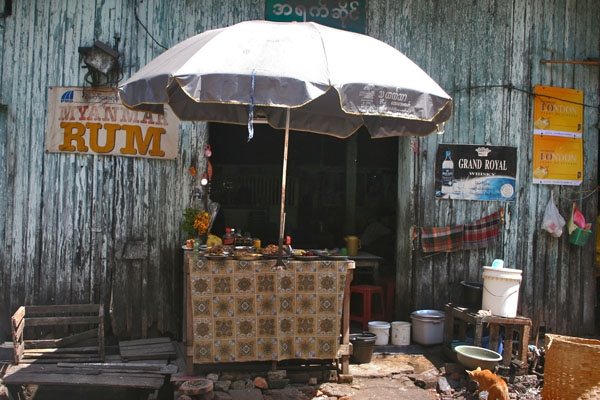 Send picture of Stall in Yangon from Myanmar (Burma) as a free postcard