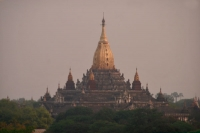 Picture of Ananda Pahto with its beautiful golden spire - Myanmar (Burma)