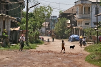 Foto van Street in Pathein - Myanmar (Burma)