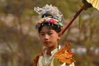 Foto van Boy dressed up for a parade in Bagan - Myanmar (Burma)