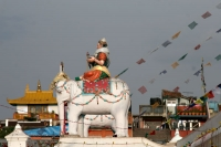 Foto di Figure at the Boudha stupa - Nepal
