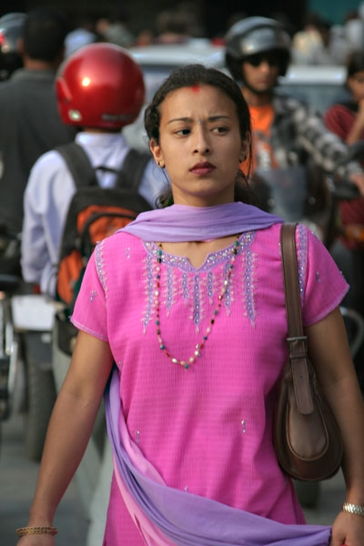 Send picture of Woman from Kathmandu from Nepal as a free postcard
