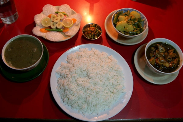 Send picture of Meal at a Nepali restaurant from Nepal as a free postcard