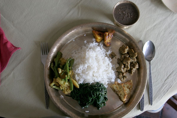 Send picture of Meal in Nepali  from Nepal as a free postcard