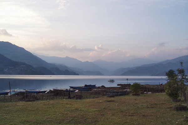 Send picture of View over lake and Pokhara from Nepal as a free postcard