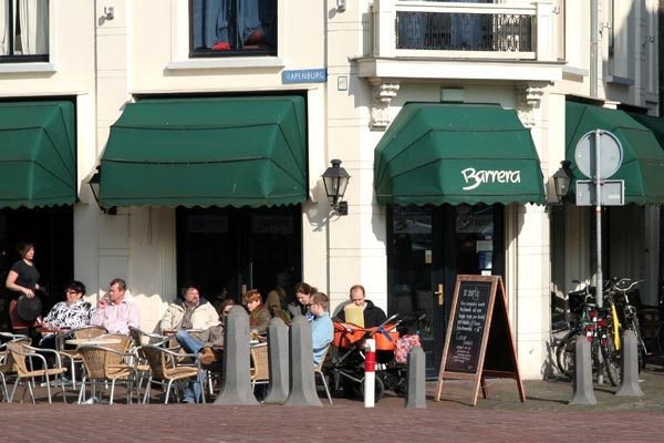 Send picture of Café in Leiden from Netherlands as a free postcard