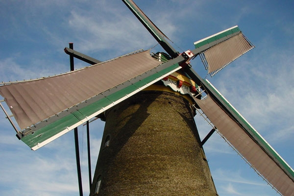 Send picture of One of the Dutch trade marks, the windmill from Netherlands as a free postcard