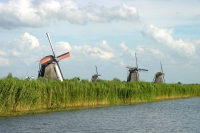 Foto van Windmills in Kinderdijk - Netherlands