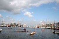 Foto van The harbor of Amsterdam - Netherlands