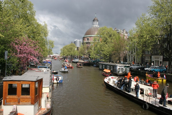 The Netherlands is famous for its many canals and boats