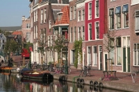 Foto van Typical Leiden street - Netherlands