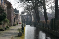 Foto de Quiet street in Leiden - Netherlands