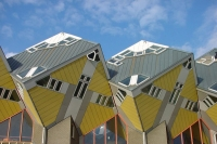 Foto van The famous cube houses in Rotterdam - Netherlands