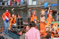 Picture of Queen's Day celebration in Amsterdam - Netherlands