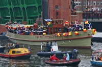 Foto van Sinterklaas is arriving in Amsterdam from Spain - Netherlands