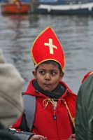 Foto di Boy wearing Sinterklaas hat - Netherlands
