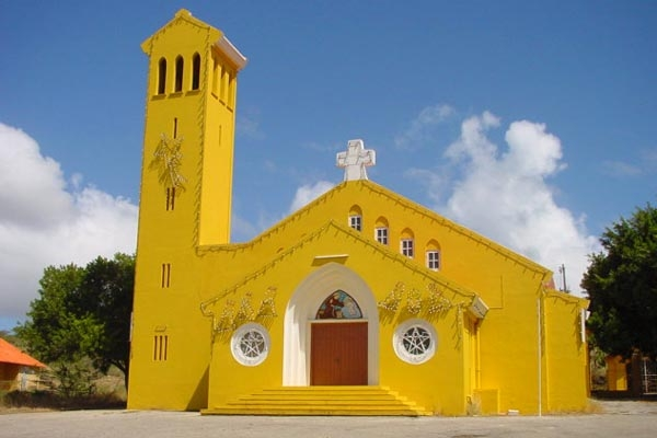 Envoyer photo de Colorful church in Curacao de Antilles Néerlandaises comme carte postale électronique