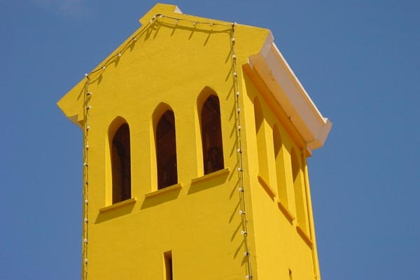 Send picture of Curacao church tower from Netherlands Antilles as a free postcard