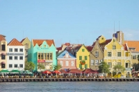 Foto de Curacao architecture in Willemstad - Netherlands Antilles