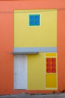 Foto di Detail from a Curacao house - Netherlands Antilles