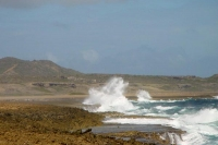 Foto de Waves breaking against the coast of Curacao - Netherlands Antilles