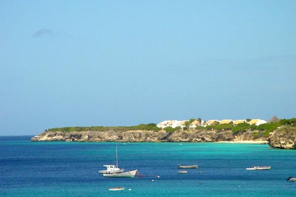 The coastline of Curacao