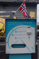 Picture of Umbrella machine in Bergen - Norway