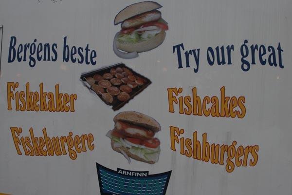 Spedire foto di A fish fast food stand di Norvegia come cartolina postale elettronica
