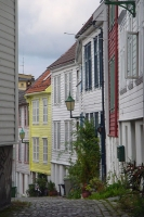 Foto van Small street in Bergen - Norway
