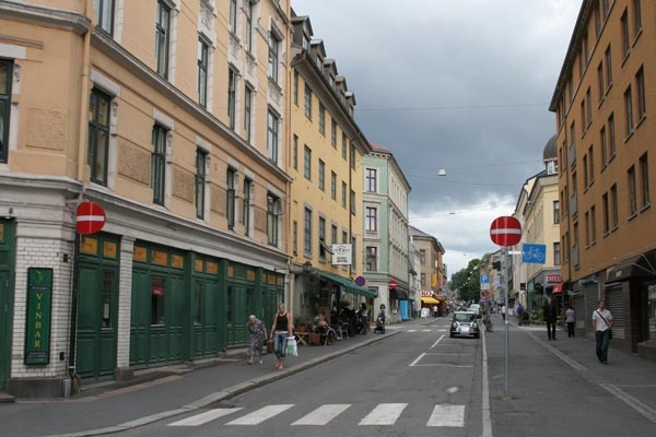 Send picture of Street in Oslo from Norway as a free postcard