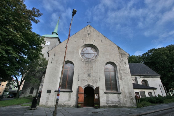 Stuur foto van Part of Bergen Cathedral van Noorwegen als een gratis kaart