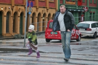 Picture of Father and daughter in Bergen - Norway