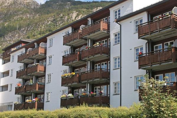 Stuur foto van Apartment buildings in Bergen van Noorwegen als een gratis kaart