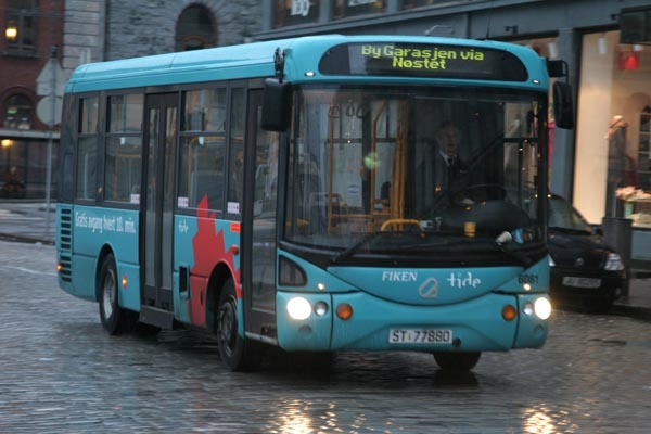 Send picture of Bus in Bergen from Norway as a free postcard