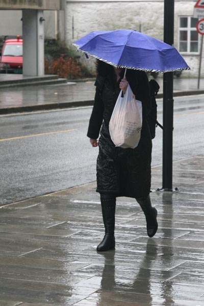 Stuur foto van Rainy weather van Noorwegen als een gratis kaart